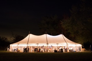 sailcloth tent available for hire in berkshire