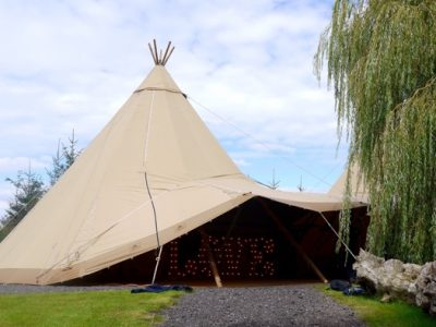wedding tipi light hire